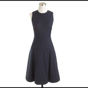 J. Crew Tall Pleated Stretch Flannel Dress